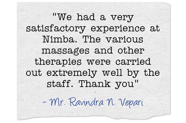Ravindra N Vepari Appreciating Nimba
